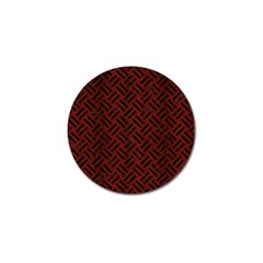 Woven2 Black Marble & Red Wood Golf Ball Marker (4 Pack) by trendistuff