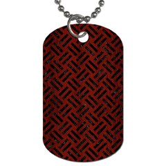 Woven2 Black Marble & Red Wood Dog Tag (two Sides) by trendistuff