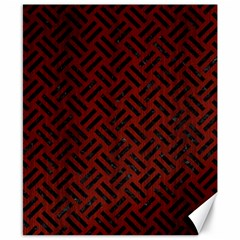 Woven2 Black Marble & Red Wood Canvas 8  X 10  by trendistuff