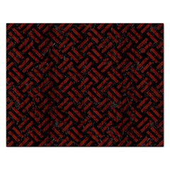 Woven2 Black Marble & Red Wood (r) Rectangular Jigsaw Puzzl by trendistuff