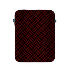 Woven2 Black Marble & Red Wood (r) Apple Ipad 2/3/4 Protective Soft Cases by trendistuff