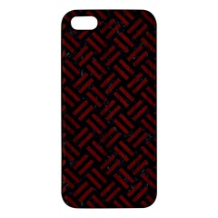 Woven2 Black Marble & Red Wood (r) Iphone 5s/ Se Premium Hardshell Case by trendistuff