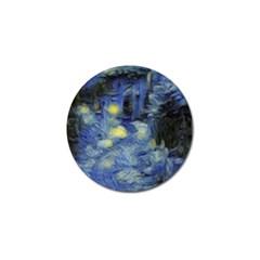 Van Gogh Inspired Golf Ball Marker (4 Pack) by 8fugoso