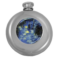 Van Gogh Inspired Round Hip Flask (5 Oz) by 8fugoso