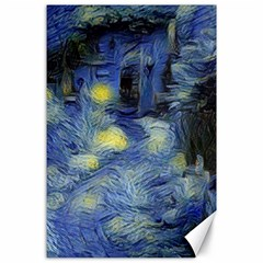 Van Gogh Inspired Canvas 24  X 36  by 8fugoso