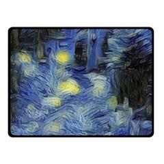 Van Gogh Inspired Fleece Blanket (small) by 8fugoso