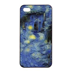 Van Gogh Inspired Apple Iphone 4/4s Seamless Case (black) by 8fugoso