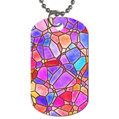 Mosaic Linda 1 Dog Tag (one Side) by MoreColorsinLife