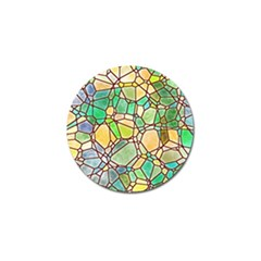 Mosaic Linda 2 Golf Ball Marker (4 Pack) by MoreColorsinLife