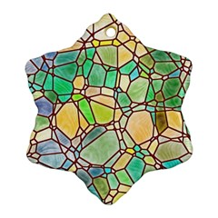 Mosaic Linda 2 Snowflake Ornament (two Sides) by MoreColorsinLife