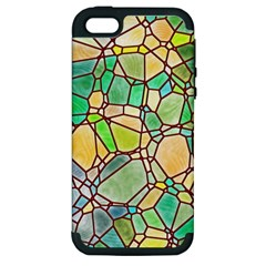 Mosaic Linda 2 Apple Iphone 5 Hardshell Case (pc+silicone) by MoreColorsinLife