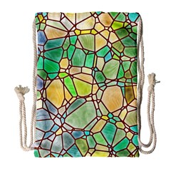 Mosaic Linda 2 Drawstring Bag (large) by MoreColorsinLife