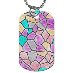 Mosaic Linda 3 Dog Tag (one Side) by MoreColorsinLife