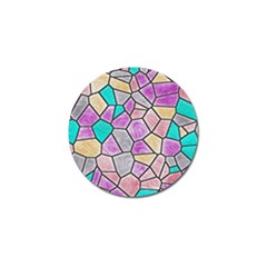 Mosaic Linda 3 Golf Ball Marker (4 Pack) by MoreColorsinLife