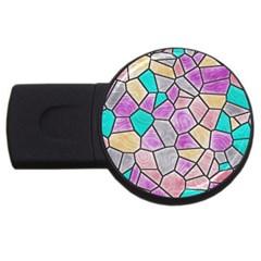 Mosaic Linda 3 Usb Flash Drive Round (2 Gb)