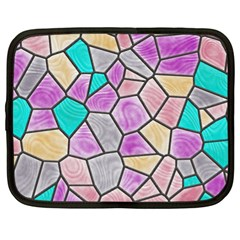 Mosaic Linda 3 Netbook Case (xl)  by MoreColorsinLife