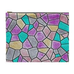 Mosaic Linda 3 Cosmetic Bag (xl) by MoreColorsinLife