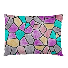 Mosaic Linda 3 Pillow Case (two Sides) by MoreColorsinLife