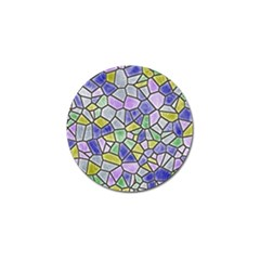 Mosaic Linda 5 Golf Ball Marker by MoreColorsinLife