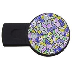 Mosaic Linda 5 Usb Flash Drive Round (2 Gb) by MoreColorsinLife