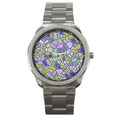 Mosaic Linda 5 Sport Metal Watch by MoreColorsinLife