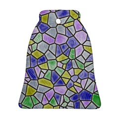 Mosaic Linda 5 Bell Ornament (two Sides) by MoreColorsinLife