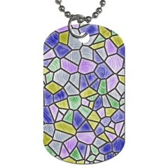 Mosaic Linda 5 Dog Tag (two Sides) by MoreColorsinLife