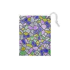 Mosaic Linda 5 Drawstring Pouches (small)  by MoreColorsinLife