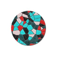 Mosaic Linda 4 Magnet 3  (round) by MoreColorsinLife