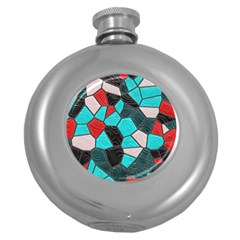 Mosaic Linda 4 Round Hip Flask (5 Oz) by MoreColorsinLife
