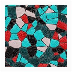 Mosaic Linda 4 Medium Glasses Cloth by MoreColorsinLife