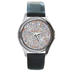 Mosaic Linda 6 Round Metal Watch by MoreColorsinLife