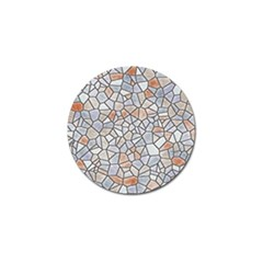 Mosaic Linda 6 Golf Ball Marker (4 Pack) by MoreColorsinLife