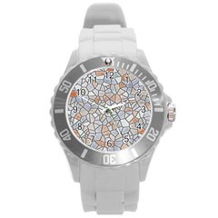 Mosaic Linda 6 Round Plastic Sport Watch (l) by MoreColorsinLife