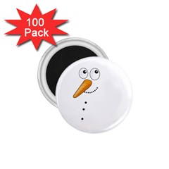 Cute Snowman 1 75  Magnets (100 Pack)  by Valentinaart
