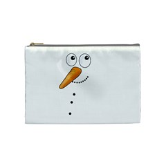 Cute Snowman Cosmetic Bag (medium)  by Valentinaart