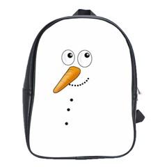 Cute Snowman School Bag (large) by Valentinaart