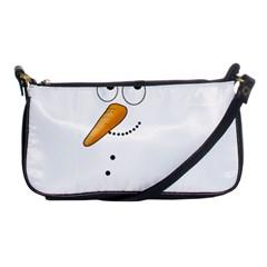 Cute Snowman Shoulder Clutch Bags by Valentinaart