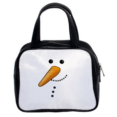 Cute Snowman Classic Handbags (2 Sides) by Valentinaart