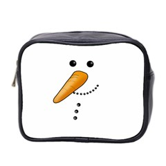 Cute Snowman Mini Toiletries Bag 2 Side by Valentinaart