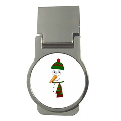 Cute Snowman Money Clips (round)  by Valentinaart