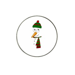 Cute Snowman Hat Clip Ball Marker (4 Pack) by Valentinaart