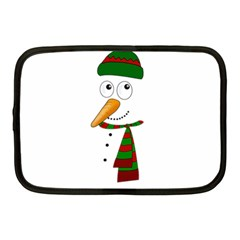 Cute Snowman Netbook Case (medium)  by Valentinaart