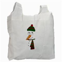 Cute Snowman Recycle Bag (one Side) by Valentinaart
