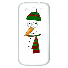 Cute Snowman Samsung Galaxy S3 S Iii Classic Hardshell Back Case by Valentinaart