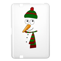 Cute Snowman Kindle Fire Hd 8 9  by Valentinaart