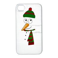 Cute Snowman Apple Iphone 4/4s Hardshell Case With Stand by Valentinaart