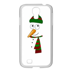 Cute Snowman Samsung Galaxy S4 I9500/ I9505 Case (white) by Valentinaart
