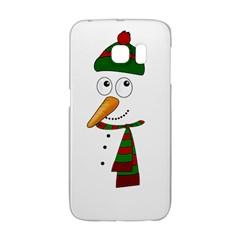 Cute Snowman Galaxy S6 Edge by Valentinaart