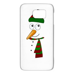 Cute Snowman Galaxy S6 by Valentinaart